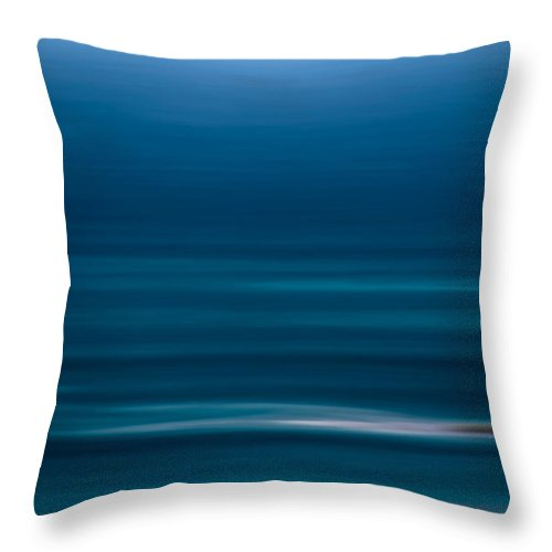 Blue Throw Pillow featuring the photograph Horizon by Robin Webster