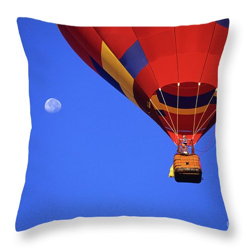 Rainbow Throw Pillow featuring the photograph Hot Air Balloon 16 by Bob Christopher