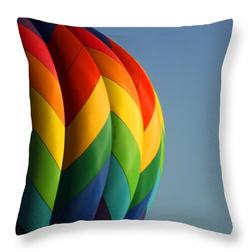 Balloons Throw Pillow featuring the photograph Hot Air Balloon 3 by Ernie Echols