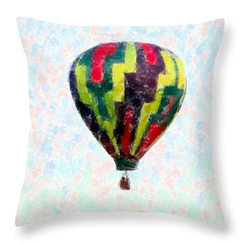 Balloon Throw Pillow featuring the photograph Hot-air-balloon by Susan Carella