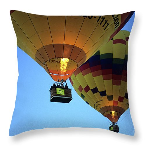 Rainbow Throw Pillow featuring the photograph Hot Air Balloons 17 by Bob Christopher