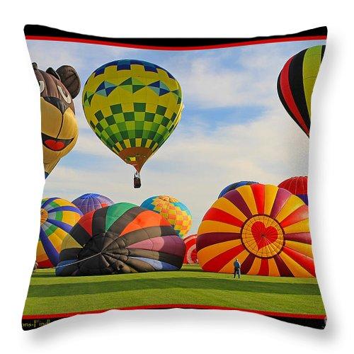 Hot Air Balloons Throw Pillow featuring the photograph Hot Air Balloons by Jack Schultz