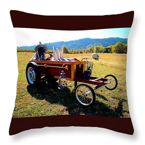 Halloween Throw Pillow featuring the photograph Hot Wheels For The Witch by Nick Kloepping