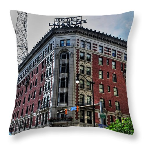 Throw Pillow featuring the photograph Hotel Lafayette Series 0002 by Michael Frank Jr
