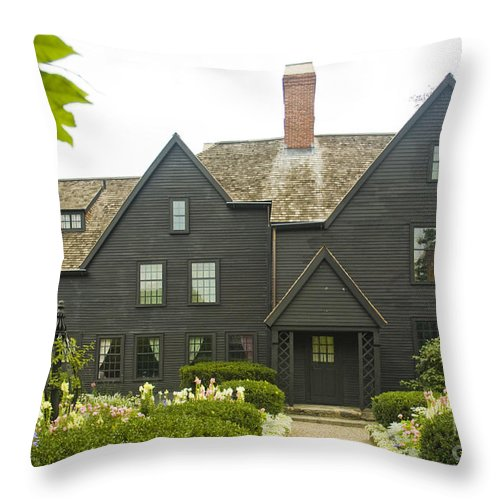 House Of Seven Gables Throw Pillow featuring the photograph House Of 7 Gables by Tim Mulina
