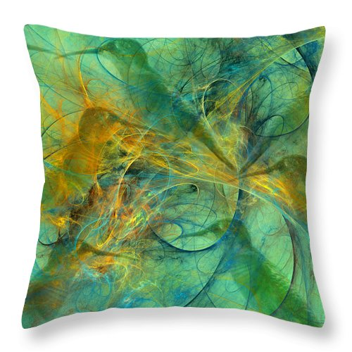 Hummingbird Throw Pillow featuring the digital art Hummingbirds by Betsy Knapp