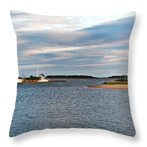 Hyannis Port Throw Pillow featuring the photograph Hyannisport At Sunset by Joan Minchak