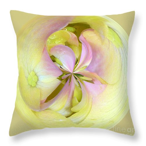 Square Throw Pillow featuring the photograph Hydrangea Circle by Sami Martin