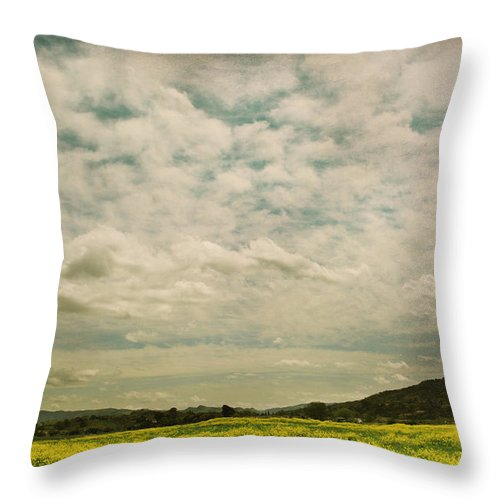 Landscape Throw Pillow featuring the photograph I Just Sat There Watching The Clouds by Laurie Search