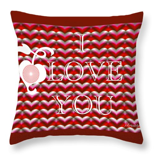Tn Throw Pillow featuring the photograph I Love You by Ericamaxine Price