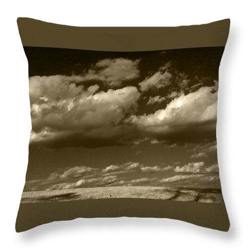 Clouds Throw Pillow featuring the photograph I Really Don't Know Clouds At All by Yuri Lev