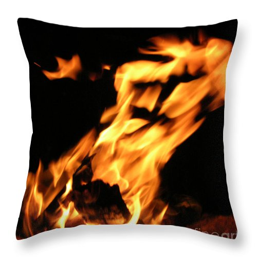 Fire Throw Pillow featuring the photograph I See Fire by Anthony Wilkening