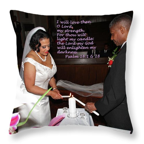 Wedding Throw Pillow featuring the photograph I Will Love Thee by Terry Wallace