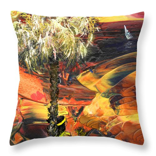 Dream Throw Pillow featuring the painting I Wish I Were There by Miki De Goodaboom
