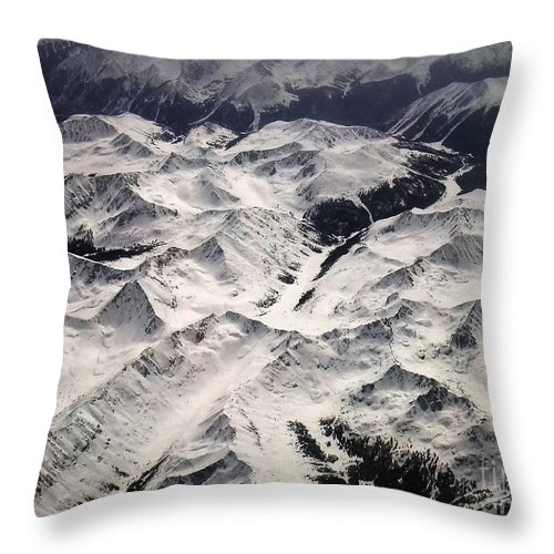 Aerial Throw Pillow featuring the photograph Ice Cap 2 by Anthony Wilkening
