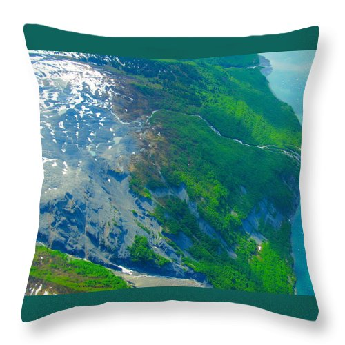Alaska Throw Pillow featuring the photograph Ice Patches by Michael Anthony