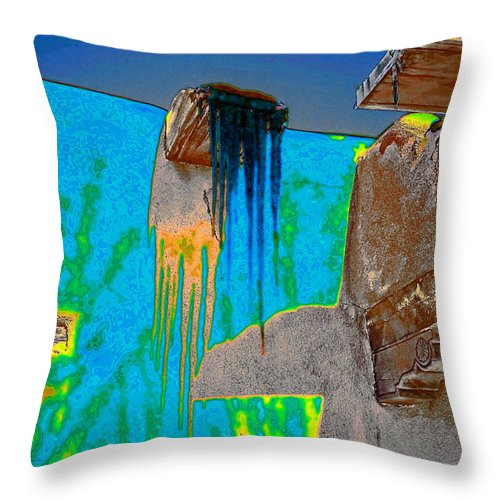 Santa Throw Pillow featuring the digital art Ice Pop by Charles Muhle