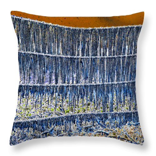 Art Throw Pillow featuring the painting Ice Storm by David Lee Thompson