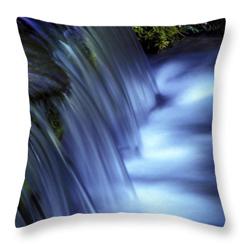 Water Throw Pillow featuring the photograph Ice Water Blue by Paul W Faust - Impressions of Light