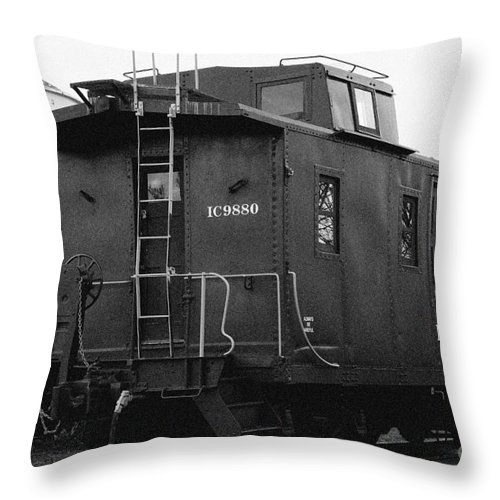Antique Throw Pillow featuring the photograph Icg Caboose by Alan Look