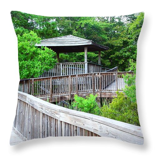 Landscape Throw Pillow featuring the photograph I'll Be There by Ester Rogers