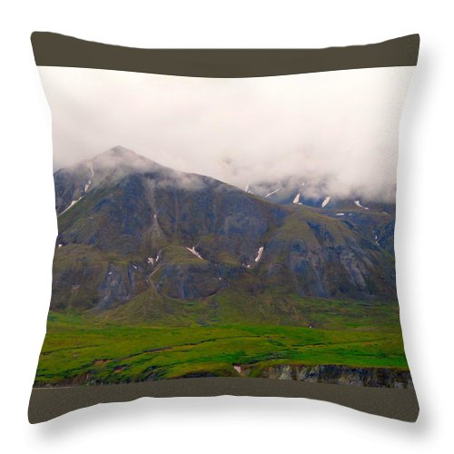 Alaska Throw Pillow featuring the photograph Illusive Clouds by Michael Anthony
