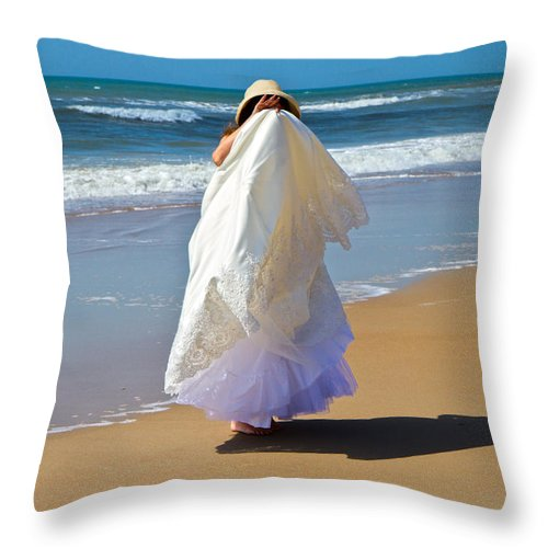 Wedding Throw Pillow featuring the photograph I'm Done by Betsy Knapp