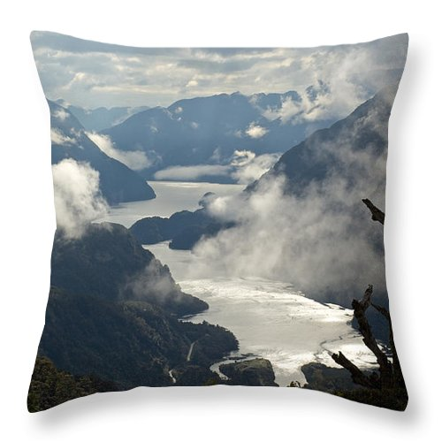Photography Throw Pillow featuring the photograph Image Of Doubtful Sound, New Zealand by Brooke Whatnall