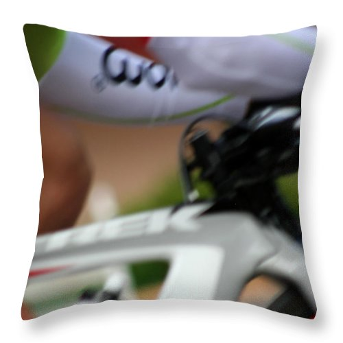 Inspirational Throw Pillow featuring the photograph In A Flash by Ric Bascobert