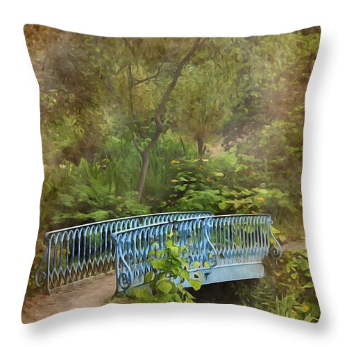 Background Throw Pillow featuring the photograph In A Garden by Svetlana Sewell