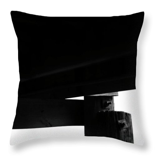 Monochrome Throw Pillow featuring the photograph In Darkness by Rebecca Sherman