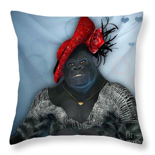 3d Throw Pillow featuring the digital art In Disguise by Jutta Maria Pusl