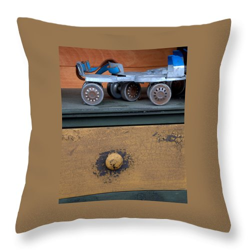 New England Throw Pillow featuring the photograph In Line Skating by Caroline Stella