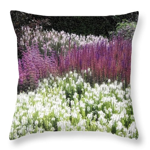 Florals Throw Pillow featuring the photograph In The Garden by Linda Dunn