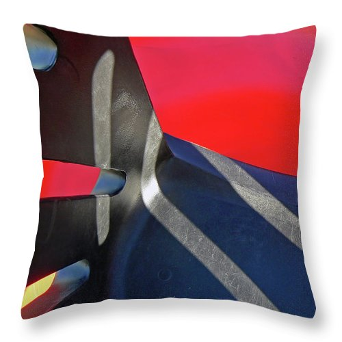 Abstract Throw Pillow featuring the photograph In The Playground by Pamela Patch