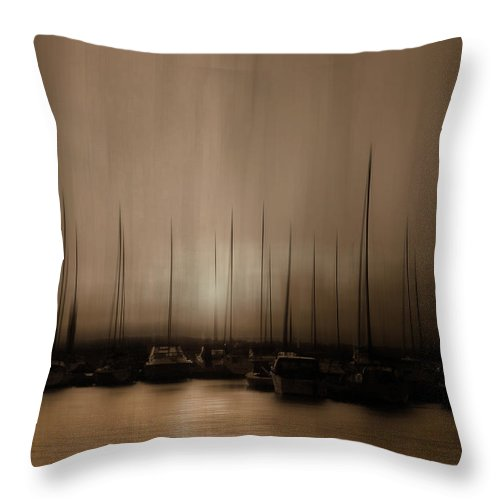 Boats Throw Pillow featuring the photograph In The Twilight Hour by Robin Webster