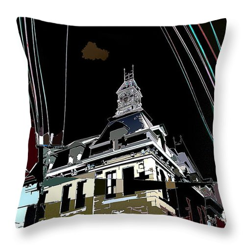 Tramlines Throw Pillow featuring the photograph In The V by Burney Lieberman
