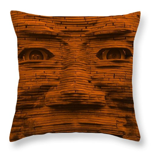 Architecture Throw Pillow featuring the photograph In Your Face In Orange by Rob Hans
