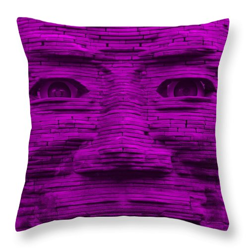 Architecture Throw Pillow featuring the photograph In Your Face In Purple by Rob Hans