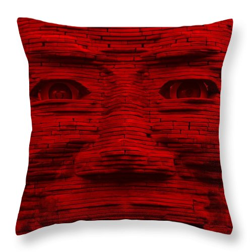 Architecture Throw Pillow featuring the photograph In Your Face In Red by Rob Hans