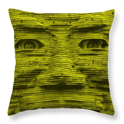 Architecture Throw Pillow featuring the photograph In Your Face In Yellow by Rob Hans