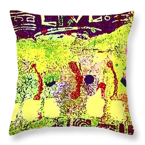 Women Throw Pillow featuring the painting Indefatigable by Angela L Walker