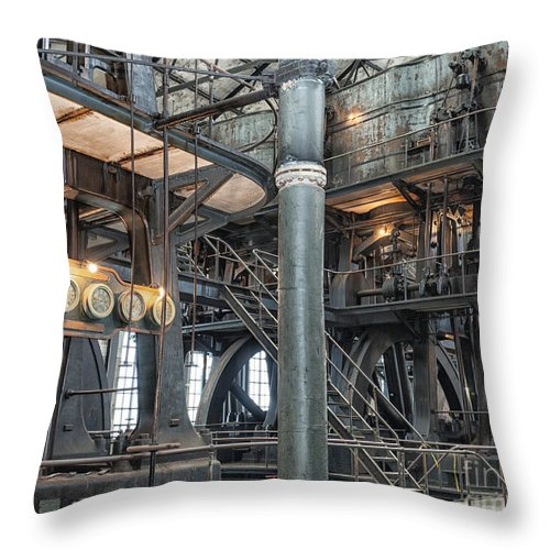 Steampunk Throw Pillow featuring the photograph Industrial 8 by Phil Pantano