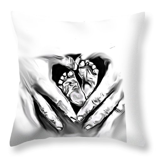 Baby Throw Pillow featuring the digital art Infinity by Crystal Webb