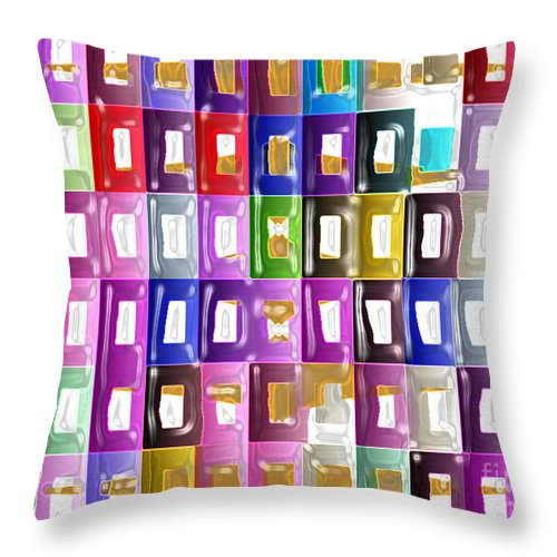 Ebsq Throw Pillow featuring the digital art Inside City Life by Dee Flouton