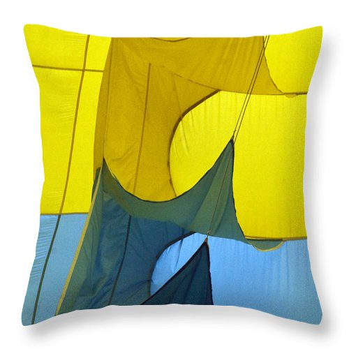 Yellow Throw Pillow featuring the photograph Inside The Balloon by Darleen Stry