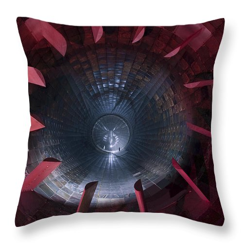 Chamber Throw Pillow featuring the photograph Inside The Diffuser Section by Stocktrek Images