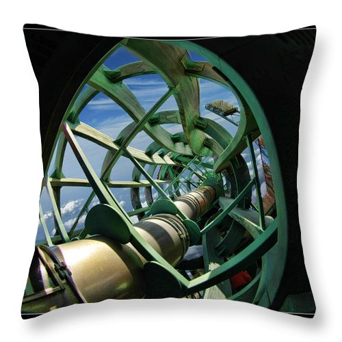 Giants Throw Pillow featuring the photograph Inside The Giants Coke Bottle by Blake Richards