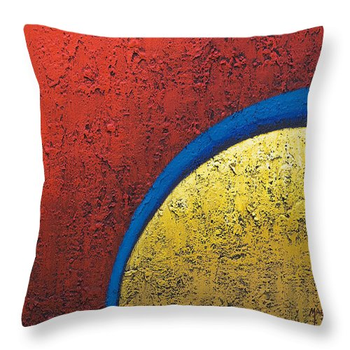 Art Throw Pillow featuring the painting Inside Yellow by Mauro Celotti