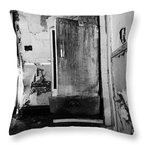 Interior Throw Pillow featuring the photograph Interior In Black And White by Bob Christopher